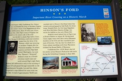 Hinson's Ford Marker image. Click for full size.