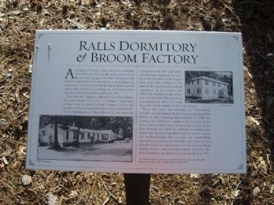 Ralls Dormitory & Broom Factory Marker image. Click for full size.