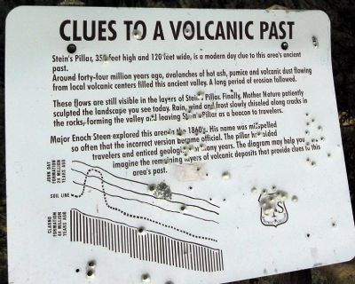 Clues to a Volcanic Past Marker image. Click for full size.