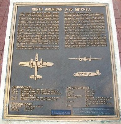 North American B-25 Mitchell Marker image. Click for full size.