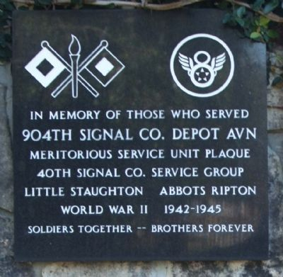 904th Signal Co. Depot AVN Marker image. Click for full size.