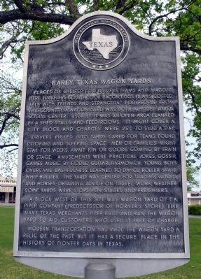 Early Texas Wagon Yards Marker image. Click for full size.
