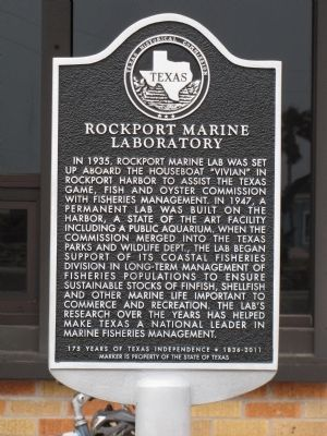 Rockport Marine Laboratory Marker image. Click for full size.