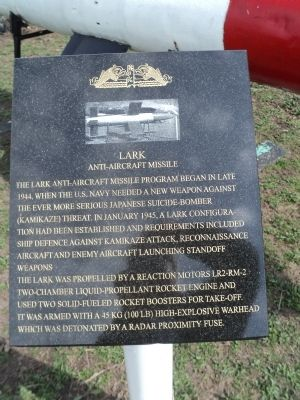 Lark Anti-aircraft Missile Marker image. Click for full size.