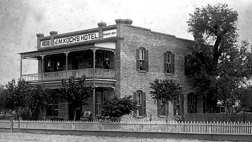 J. M. Koch's Hotel period view, circa 1910-1920 image. Click for full size.