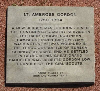 Lt. Ambrose Gordon Marker image. Click for full size.