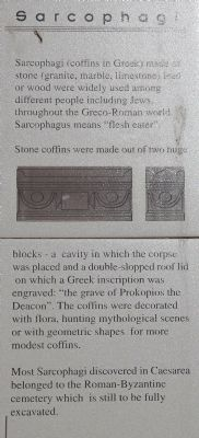 Sarcophagi Marker image. Click for full size.