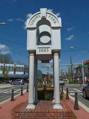 Town Clock<br>Takoma Park<br>1883 image. Click for full size.