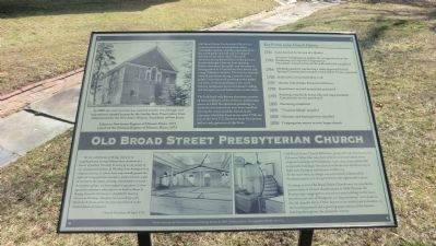 Old Broad Street Presbyterain Church Marker image. Click for full size.
