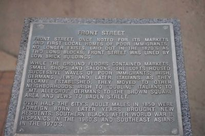 Front Street Marker image. Click for full size.