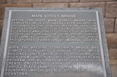 Main Street Bridge Marker image. Click for full size.