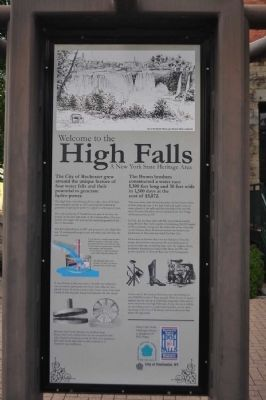 Welcome to the High Falls Marker image. Click for full size.
