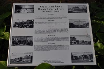 City of Canandaigua Marker image. Click for full size.