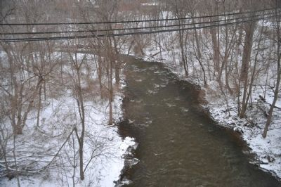 Irondequoit Creek as seen from Linden Ave. Bridge image. Click for full size.