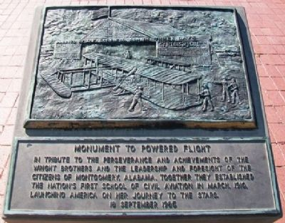 Monument to Powered Flight Marker image. Click for full size.