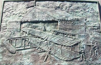 Monument to Powered Flight Bas Relief image. Click for full size.