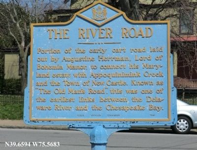The River Road Marker image. Click for full size.