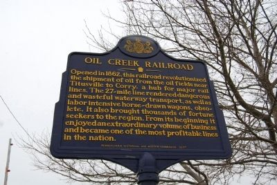 Oil Creek Railroad Marker image. Click for full size.