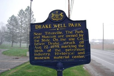 Drake Well Park Marker image. Click for full size.