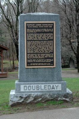 Captain Abner Doubeday Marker, in Iron Spring Park image. Click for full size.