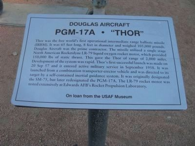 "PGM-17A • ""Thor"" Marker image. Click for full size."