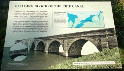 Building Block of the Erie Canal Marker image. Click for full size.