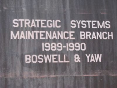 Strategic Systems Maintenance Branch image. Click for full size.
