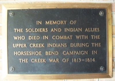Horseshoe Bend Campaign Combatants Marker image. Click for full size.