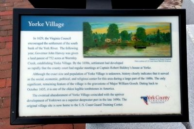 Yorke Village Marker image. Click for full size.