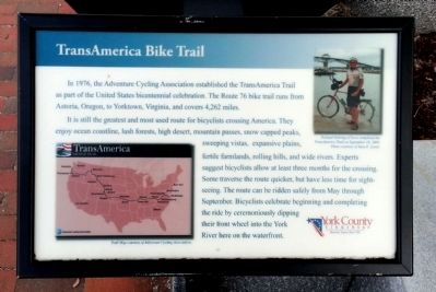 TransAmerica Bike Trail Marker image. Click for full size.