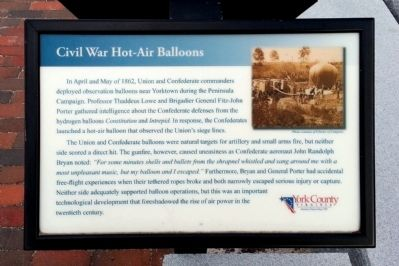Civil War Hot-Air Balloons Marker image. Click for full size.