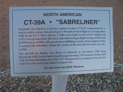 "CT-39A - ""Sabreliner"" Marker image. Click for full size."
