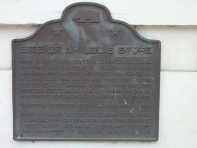 Ah Louis Store Marker image. Click for full size.
