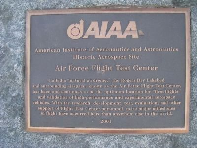 American Institute of Aeronautics and Astronautics Marker image. Click for full size.