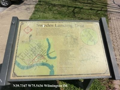 Swedes Landing Trail Marker image. Click for full size.