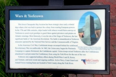 Wars & Yorktown Marker image. Click for full size.