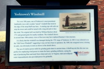 Yorktown's Windmill Marker image. Click for full size.
