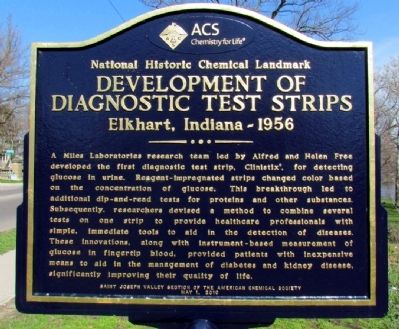Development of Diagnostic Test Strips Marker image. Click for full size.