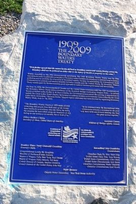 The Boundary Waters Treaty Marker image. Click for full size.