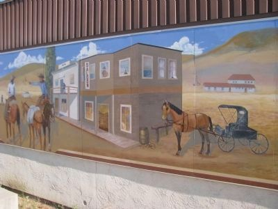 Oildale a 100 Years Ago Mural image. Click for full size.