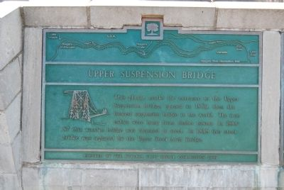 Upper Suspension Bridge Marker image. Click for full size.