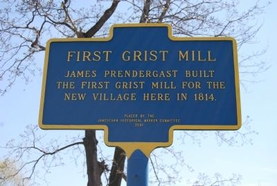 First Grist Mill Marker image. Click for full size.