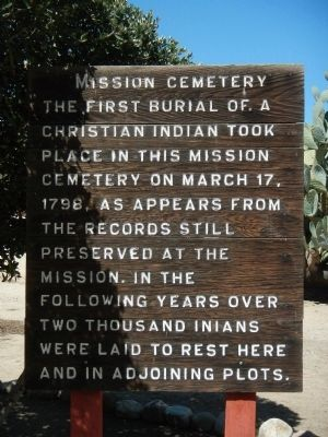 Mission Cemetery Marker image. Click for full size.