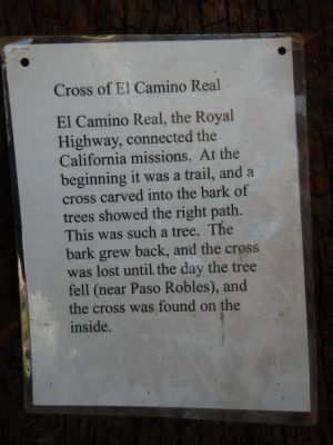 Cross of El Camino Real Marker image. Click for full size.