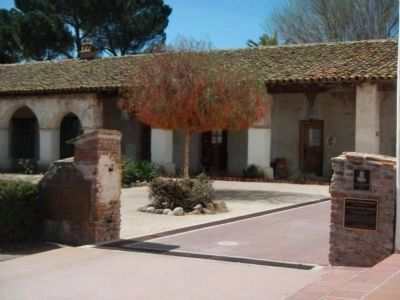 Mission San Miguel Arcangel Marker and Plaques image. Click for full size.