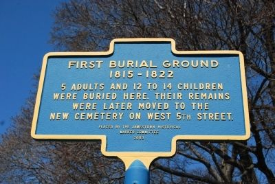 First Burial Ground Marker image. Click for full size.