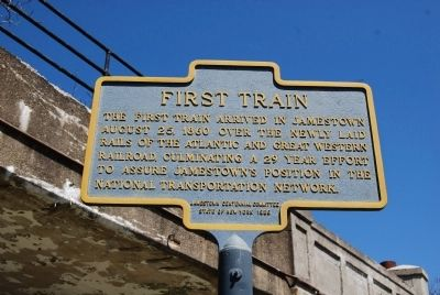 First Train Marker image. Click for full size.