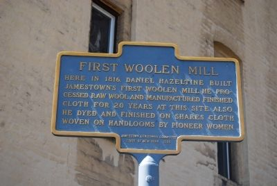First Woolen Mill Marker image. Click for full size.