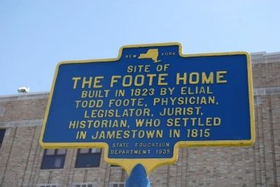 Site of the Foote Home Marker image. Click for full size.