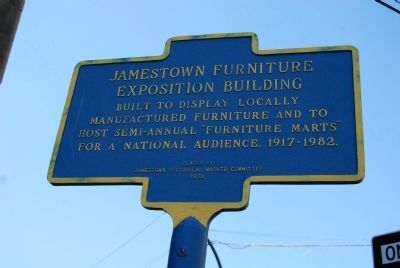 Jamestown Furniture Exposition Building Marker image. Click for full size.